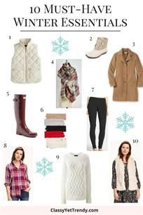 10 must winter essentials yet trendy