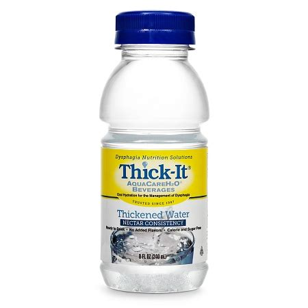 thick it aquacareh20 thickened water nectar consistency