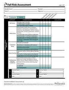 free risk assessment template fall risk assessment template free