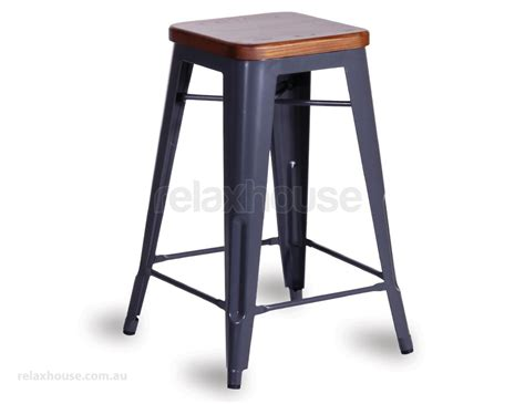 Grey Black Stool by Charcoal Grey Stool With Solid Wood Seat