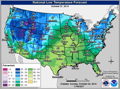 nws miami on twitter quotlow temperature map for the lower