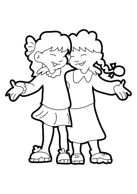 dibujos para colorear ya los mejores dibujos para dibujos de amigas para colorear e imprimir