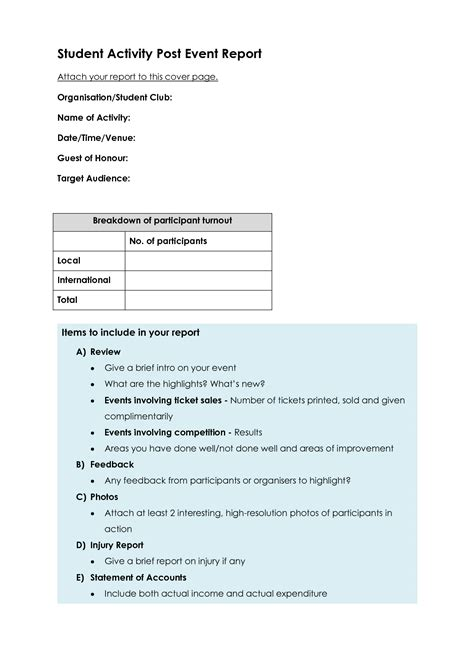 sle post mortem report event post mortem report template 28 images blank