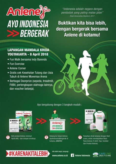 Indonesia Bergerak anlene quot ayo indonesia bergerak quot lapangan mandala krida