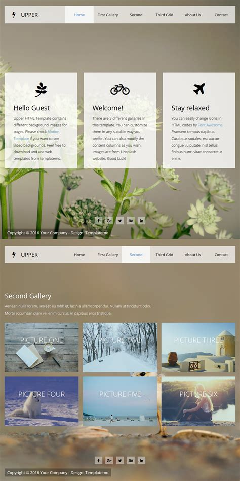hero layout bootstrap template 497 upper
