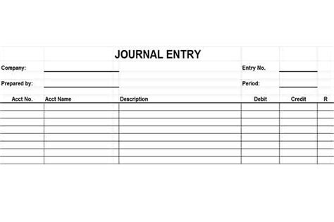journal entry form template financial reporting controls vitalics