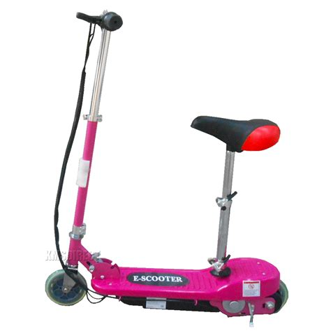 scooter with seat electric pink 120w 24v ride on electric scooter escooter with