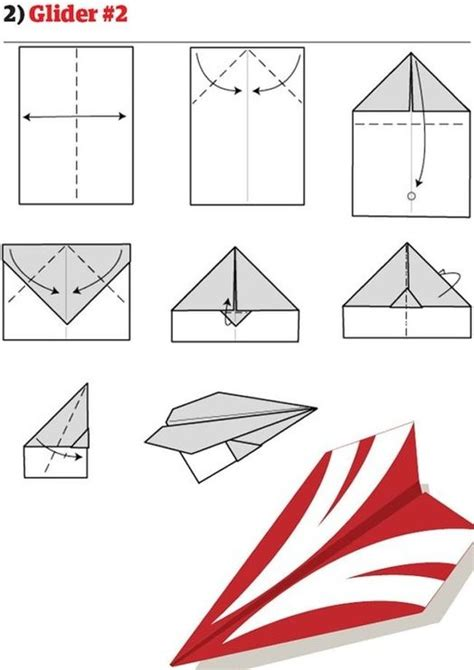 Paper Airplane Fold - 17 best images about iris folding origami paper