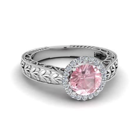 antique vintage morganite colored engagement ring