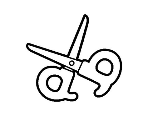 scissors coloring sheet coloring pages