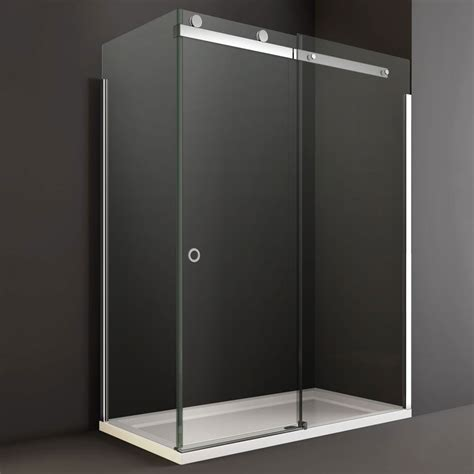 Frameless Sliding Glass Shower Door Sliding Glass Shower Door Bathroom Cheap Corner Frameless Glass Shower Door With Black