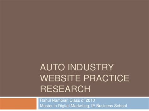 Ie Business School Mba Class Size by Best Practices In For Auto Industry Websites