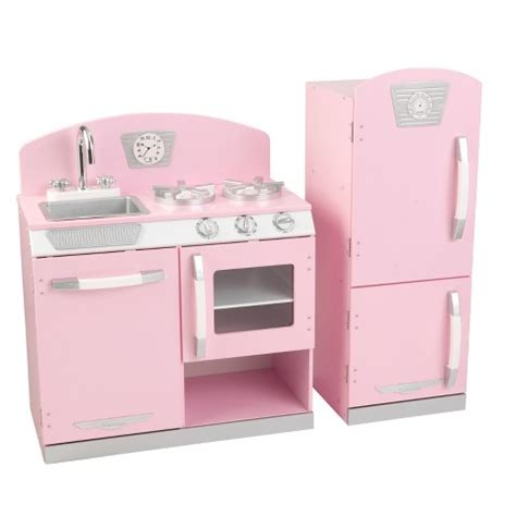 kidkraft vintage kitchen in pink kidkraft pink retro kitchen and refrigerator pla target