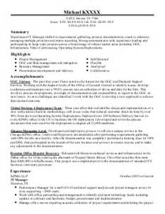 Systems Integration Manager Sle Resume by System Integration Manager Resume Exle Honeywell International Arizona