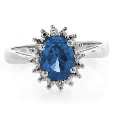 blue topaz princess kate style ring silverbestbuy
