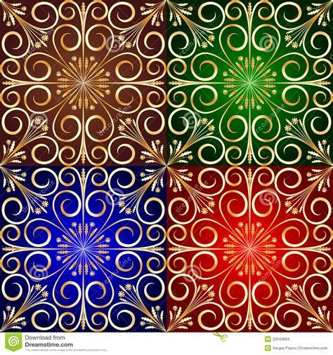 fliese pusteblume golden flower tile background stock photo image 33043684