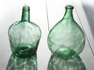 Small Round Glass Vases French Extra Large Green Glass Bottle Demijohn By Frenchmelody