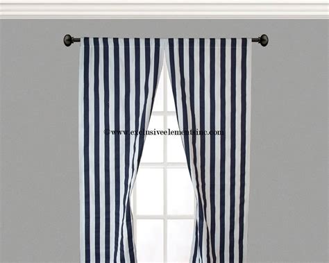 White And Navy Striped Curtains Curtain Panels Navy White Stripe Curtains By Exclusiveelements