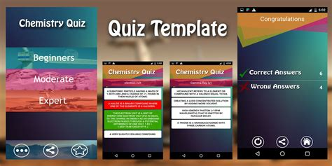 Android Quiz App Source Code by Quiz App Template Android App Source Code Quiz And