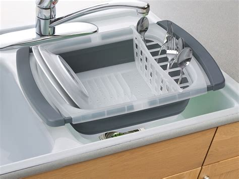 in sink dish drainer progressive international cdd 20gy collapsible dish drainer