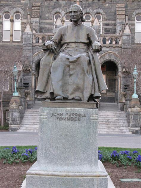 Georgetown Mba Program Located by Bishop Carroll Statue