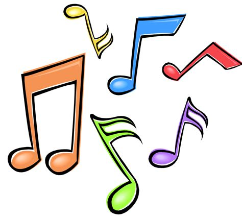 clipart musica colouful clipart note pencil and in color colouful