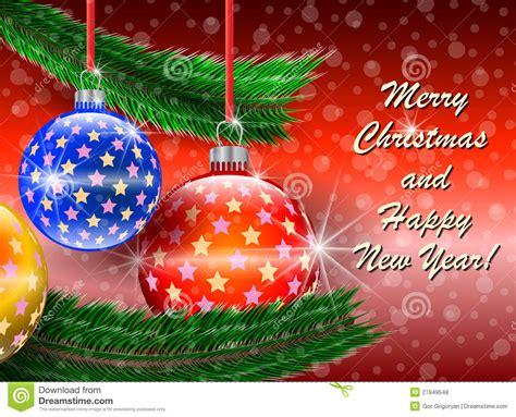 merry christmas  happy  year  card stock vector illustration  congratulation