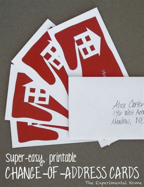 make your own change of address cards planning a move save some time with these easy change of