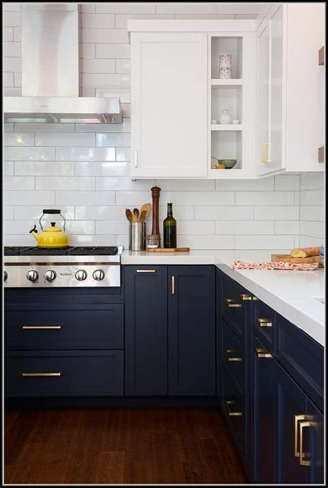 Navy Blue Kitchen Cabinets by Navy Blue And White Kitchen Cabinets Cabinet Home