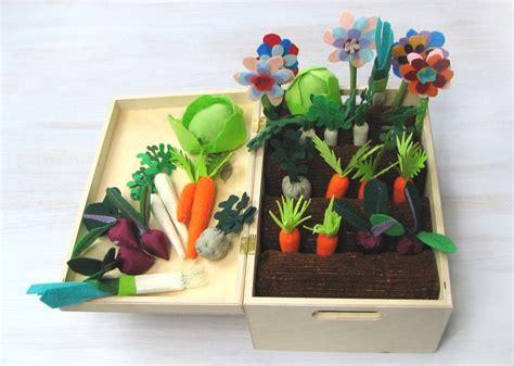 Felt Fabric Vegetable Garden Play Set Toy Mini Garden Felt Vegetable Garden