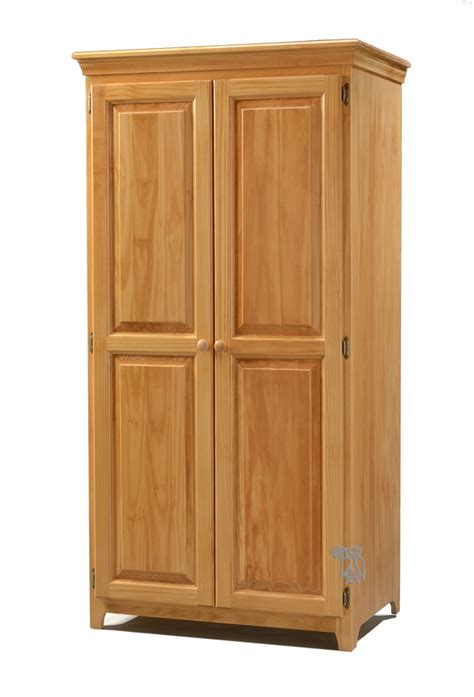 unfinished pine armoire hoot judkins bedroom solid pine 2 door wardrobe honey archbold