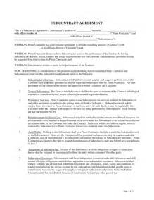 subcontractor agreement 1 legalforms org