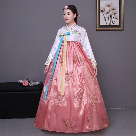 Cotton Korea Dress Blue Size S M L 61342 2018 new korean traditional clothing cotton hanbok korean
