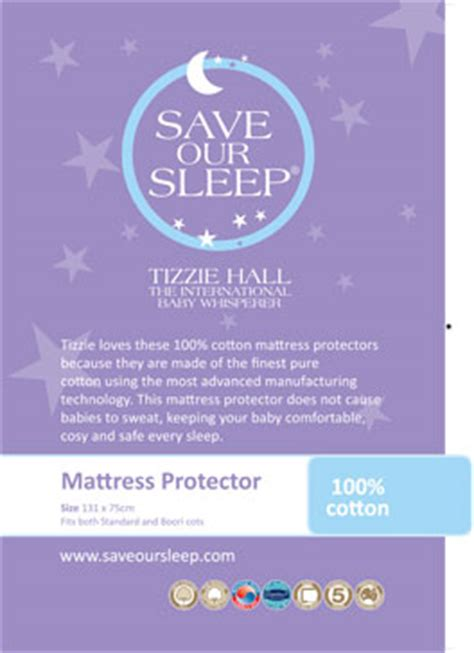 Do Mattress Protectors Make You Sweat by Save Our Sleep 100 Cotton Cot Mattress Protector Save