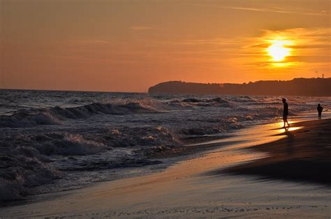 picture sunset beach water sea dawn ocean sun