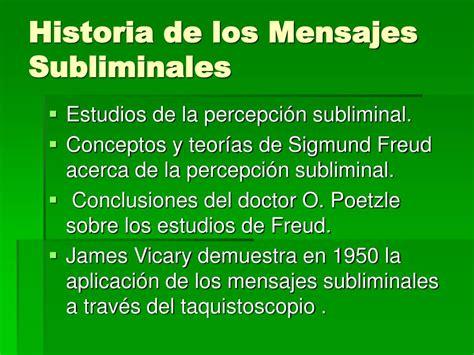 Mensajes Subliminales Historia | ppt mensajes subliminales powerpoint presentation id