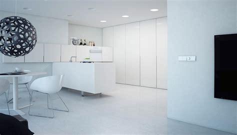 Super Minimalist Modern Apartment  White