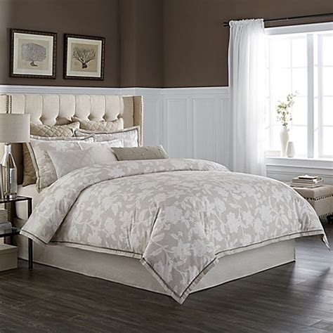 wamsutta 174 secret garden comforter set in natural bed
