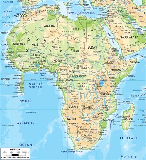 africa map hd image 10 best physical maps images on maps