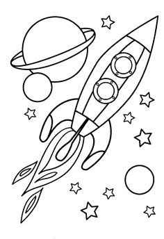 free printable coloring pages for kids space coloring