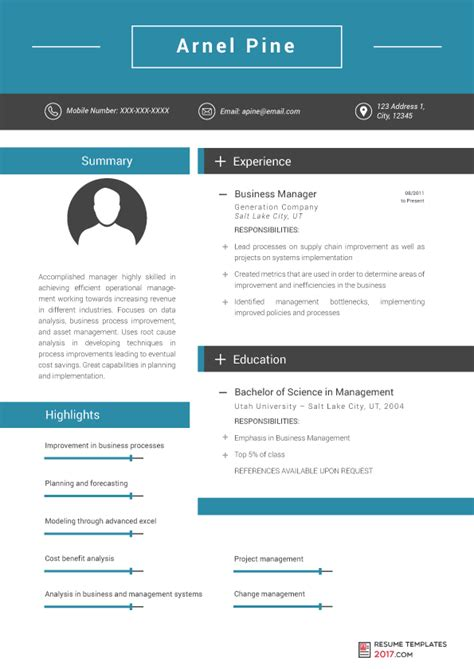 Management Resume Templates Free by Management Resume Template Is Professional Help From The