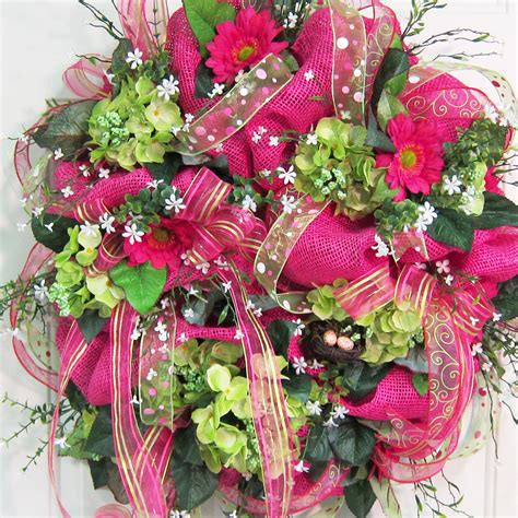 spring wreath deco mesh spring summer wreath gorgeous and showy on your