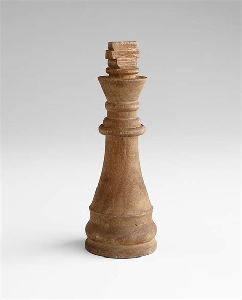 chess piece designs chess piece king wood sculpture by cyan design