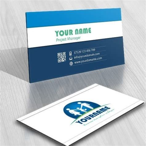 family business card template family logo template free business card