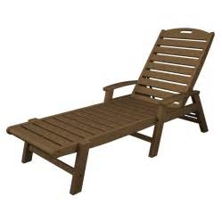 Patio Chaise Lounge Chair Shop Trex Outdoor Furniture Yacht Club Slat Seat Plastic Patio Chaise Lounge At Lowes