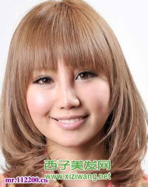 photos of hairstyles for fat women with thin hair 女圆脸短发发型设计 圆脸发型 西子美发网