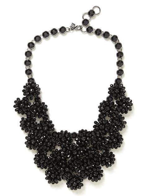 black necklace black flower necklace andino jewellery