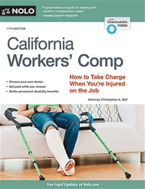 Ca Workers Comp Search California Workers Comp Book For Work Injuries Nolo