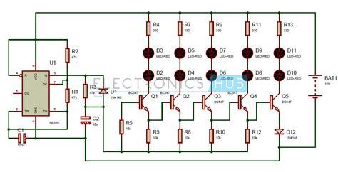 bike led indicator circuit bike turning signal indicator circuit using 555 timer