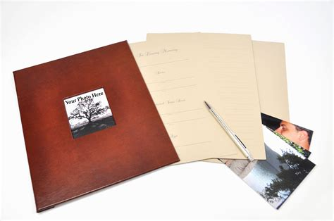 memorial picture book memorial guest book archival quality funeral guest book